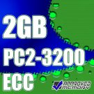 2GB DDR-2 PC2-3200 240 Pin ECC Registered Single Rank Server Desktop Memory