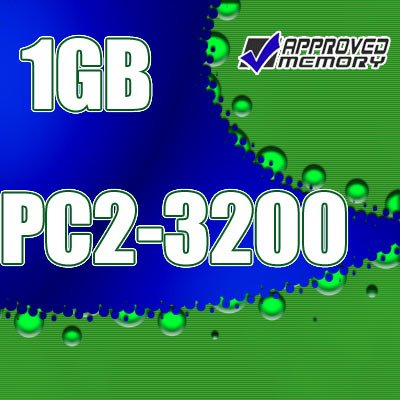 1GB RAM 200-pin PC2-3200 400MHz SODIMM Memory Kit for Dell Latitude D610