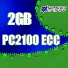 2GB RAM 184-pin PC2100 266MHz  ECC DIMM Memory for Hewlett Packard Workstation  xw5000