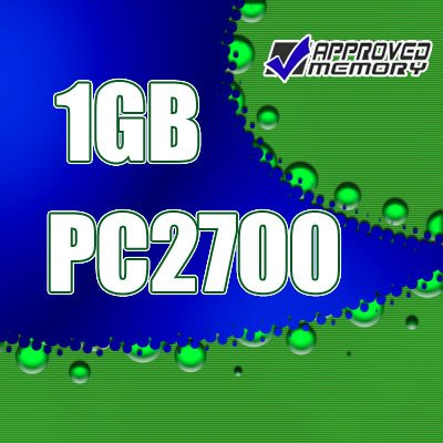 1GB RAM 200-pin PC2700 333MHz  SODIMM Computer TMTC Laptop Memory