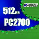 512MB RAM 200-pin PC2700 333MHz  SODIMM Gateway MX6030 Computer Laptop Memory