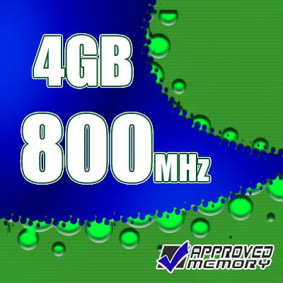 4GB 2x 2GB PC2-6400 800MHz DDR2-800 SDRAM SODIMM Memory Kit for Dell Latitude E5400