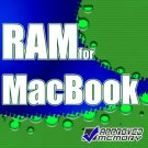 "1GB RAM PC2-5300 667MHz DDR2 Memory MA472LL/A APPLE MACBOOK 13"" Core 2 Duo 2GHz Black"