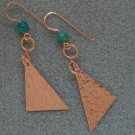 """Copper Hypotenuse"" earrings"