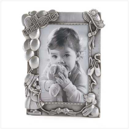 Pewter 'My Granddaughter' Frame