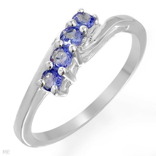 Genuine Tanzanite & .925 Sterling Silver Ring Size 7