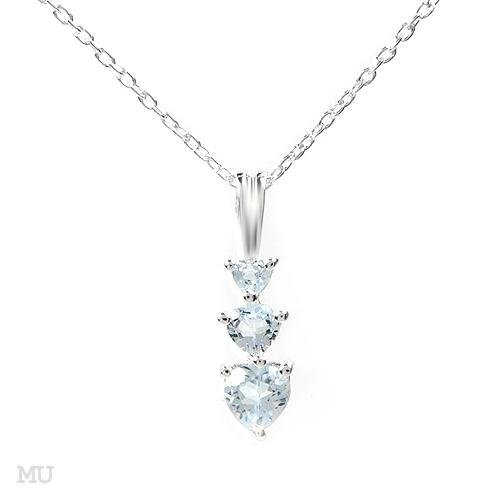 Sterling silver Necklace with 1.10ctw Genuine Topaz 16 in