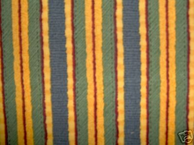 CREATIVE WOMAN Blue Green Gold Stripes Fabric SSI DEBBIE MUMM 2+ yds LAST PIECE