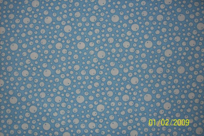 BTY RJR Everything But the Kitchen Sink Bubbles on Blue 1930s Repro Quilt Fabric By the Yard