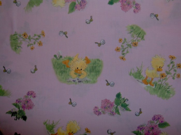 Little Suzy's Zoo Scenic Vignettes on Pink KIDS COTTON SEWING FABRIC FAT QUARTER FQ
