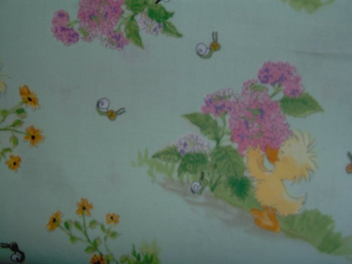 Little Suzy's Zoo Scenic Vignettes on Green KIDS COTTON SEWING FABRIC FAT QUARTER FQ
