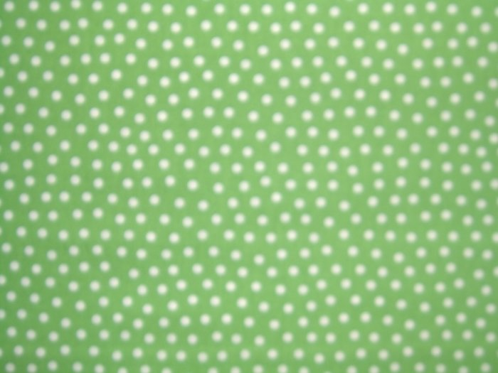 Lagon Dragon White Dots on Green Cotton Quilting Fabric Maywood Studios 1 1/2+ Yards - LAST PIECE!