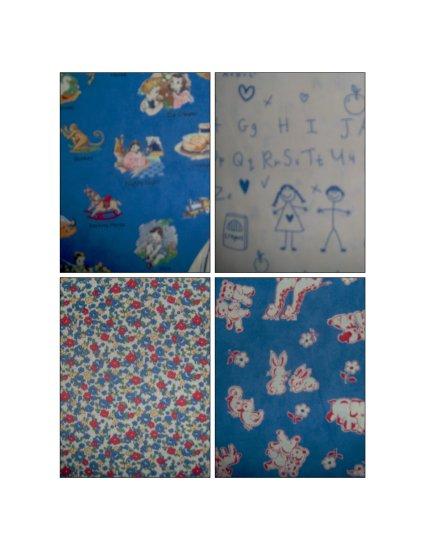 LAST PACK Moda 26 Letters Fat Quarter FQ Kids Cotton Quilt Fabric Lot