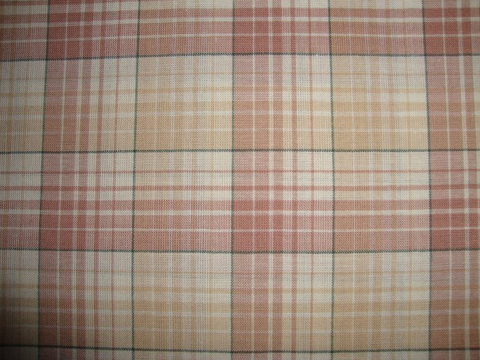 RJR Thimbleberries Daisy Days Tan Plaid Fabric by Lynette Jensen BTY By the Yard