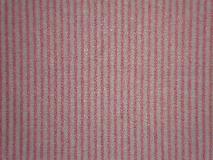 SALE! Dark Pink Pinkstripe on White POLYESTER Flannel Fabric Fat Quarter FQ