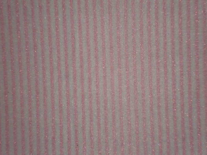 SALE! Light Pink Pinkstripe on White POLYESTER Flannel Fabric Fat Quarter FQ