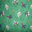 SALE! Round up on Green Cotton Snuggle Flannel Fabric Fat Quarter FQ