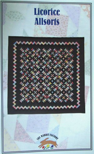Licorice Allsorts Quilt Top Pattern by The Rabbit Factory