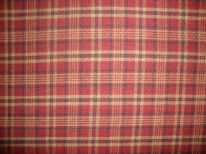 Rust Tan Black Plaid Double Sided Cotton Homespun Flannel Fabric Fat Quarter FQ