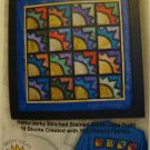 Stained Glass Sunshine Wall Hanging Quilt Top Pattern 216 from Bright Ideas Design Co