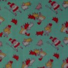 Granny's Nursery Rhymes Mary Lamb Bo Peep on Green Repro Kids Cotton Fabric 1 1/3 Yd
