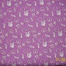 RJR Everything But the Kitchen Sink Purple Circus Toss 1930s Repro Fabric BTY By the Yard