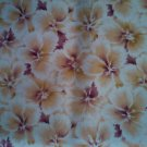 FQ RJR Windswept White Beige Tan Purple Flowers Floral Allover Fabric Fat Quarter