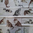 Timeless Treasures Cats Applique Quilt Block Center Fat Quarter FQ Fabric