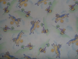 BTY RJR So Soft So Sweet Purple Nursery Rhymes Scenic Fabric By the Yard