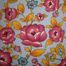 American Cottage Purple Flowers on Blue Fabric Peter Pan Little Quilts Fat Quarter FQ