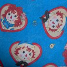 OOP HTF Daisy Kingdom Raggedy Ann Andy Friends Allover Hearts Fabric Fat Eighth F8 F8th