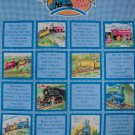 The Little Train Engine That Could Quilt Top Wall Hanging Fabric Panel DEFECT PLEASE READ