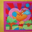 FQ Disney Winnie the Rainbow Pooh Tigger Flying Balloon Quilt Block Pillow Panel Fabric Fat Quarter