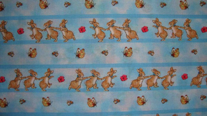 Yard beatrix potter blue flopsy bunny hop cotton kids