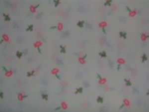 Vintage Beatrix Potter Flower Toss Cotton Fabric Fat Eighth F8th F8