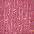 1 3/4+ Yard RJR Everything But the Kitchen Sink White Flowers on Pink 1930s Repro Quilt Fabric