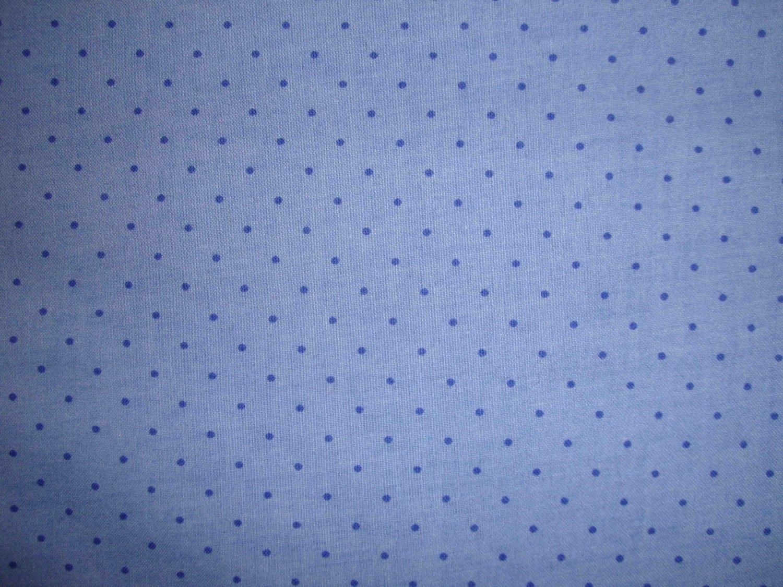1 7/8+ Yard Calico Frog Blue Polka Dots Signature Classics Fabric by Oakhurst Textiles LAST PC