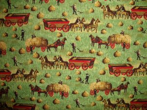 FQ Concord American Folk Art Museum Haying Time Cotton Quilt Fabric Fat Quarter