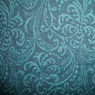 F8 Blue Green Teal Tonal Flowers Cotton Fabric Fat Eighth F8th
