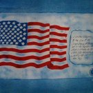 Pledge of Allegiance Flag on Blue Fabric Panel by Concord American Art Heritage