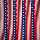 BTY Americana Red White & Blue Stars and Stripes Fabric by Oakhurst Textiles By the Yard