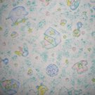 FQ Baby Clothes and Toy Toss on Pastel Green Cotton Flannel Fabric Fat Quarter