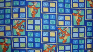 "7"" Strip Disney Winnie the Pooh Tigger Toss Cotton Snuggle Flannel Fabric Bolt End"