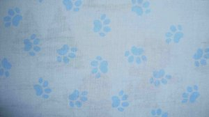 FQ Disney 101 102 Dalmatians Puppy Paw Prints on Blue Cotton Fabric Fat Quarter