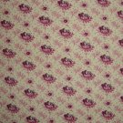 FQ RJR Vintage Treasures Purple Flowers on Cream Fabric Fat Quarter