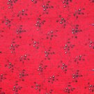 FQ Tiny Black Flowers on Red In the Beginning Blended Collection Fabric Fat Quarter