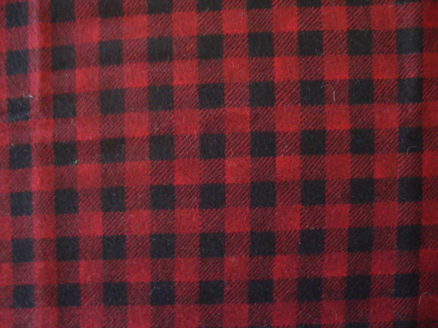 1 Yard Red & Black Plaid Cotton Flannel Fabric Bolt End by Debbie Mumm SSI