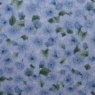 F8 Daisy Kingdom Quilters Only Blue Primrose Calico Cotton Fabric Fat Eighth F8th