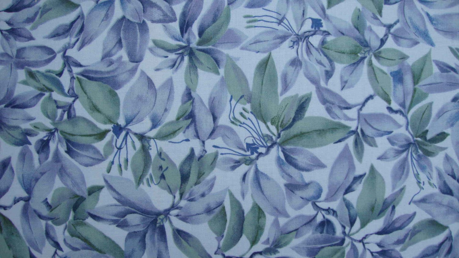 F8 Timeless Treasures Quilter's Garden Blue Green Rhododendron Cotton Fabric Fat Eighth F8th
