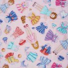 FQ Paper Dolls Clothes Accessories on Pink Timeless Treasures Cotton Fabric Fat Quarter